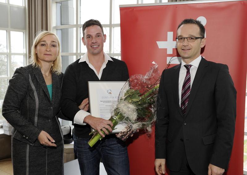 Auszeichnung durch Minister Heiko Maas